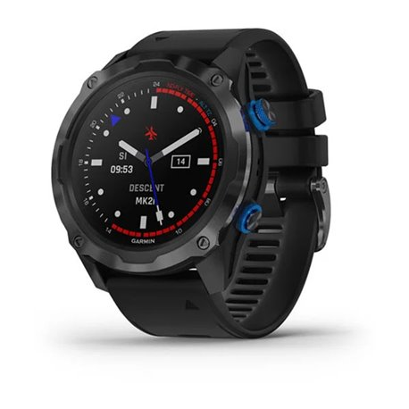 Garmin Descent™ Mk2i Titanium Carbon Gray DLC with Black Band
